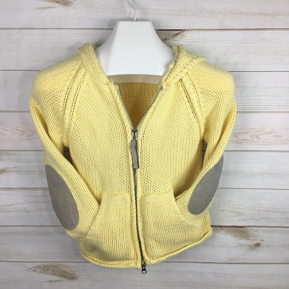 Next Era Jackets & Blazers - Next Era Yellow Knit Cropped Elbow Patch Jacket M